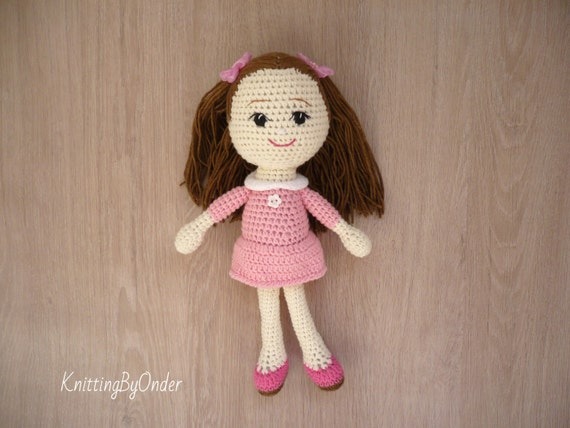 Amigurumi Doll Skirt : Crochet amigurumi soft doll Handmade baby doll Amigurumi