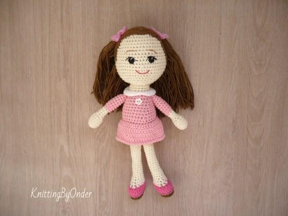 Crochet Amigurumi Doll Clothes : Crochet amigurumi soft doll Handmade baby doll Amigurumi