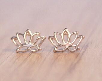 """Rosé gold earrings """"Lotus"""""""