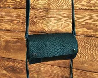 Woman bag black bag leather bag shoulder bag reptile bag exclusive bag original bag modern bag handmade bag extravagant bag trendy bag
