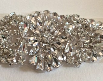 Beautiful Wedding Bridal Sash- Rhinestones and Pearls