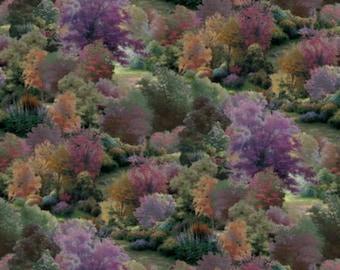 Thomas Kinkade Spring Landscape by David Textiles 100% cotton Fabric (DA39)