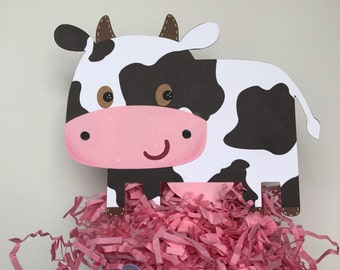 Cow cake topper, farm animals cake topper, farm animals centerpiece, farm baby shower, cow die cut, baby shower centerpiece, diaper cake