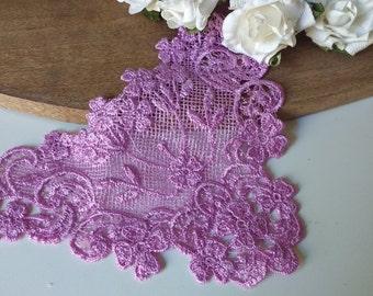LACE - Lavender Lace Appliques  Vintage  New Old Stock