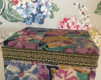 Pretty Vintage fabric covered box