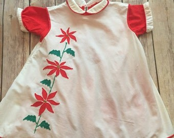 Vintage Baby Christmas Dress Size 18-24 months