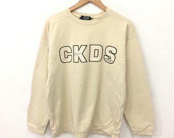 Rare! Vintage 90's CLASS KID'S Sweatshirt Cream Color Medium Color