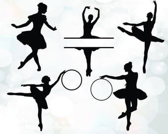 Ballerina SVG - ballet dancer silhouette SVG files - Ballerina SVG - Files For Silhouette Studio and Cricut Design Space - Ballet Dancer svg