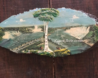 Niagara Falls Canada Painted Wooden Plaque