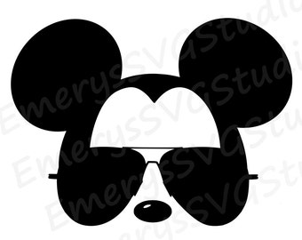 SVG DXF File for Mickey with Aviator Sunglasses