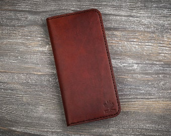 Leather wallet brown wallet mens wallet long wallet personalized wallets phone wallet card wallet men holder cell phone wallet long holder