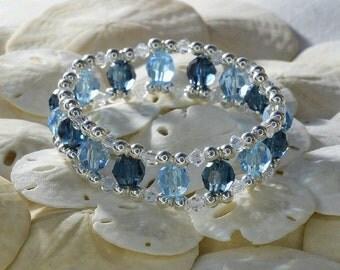 Crystal Blues Bracelet