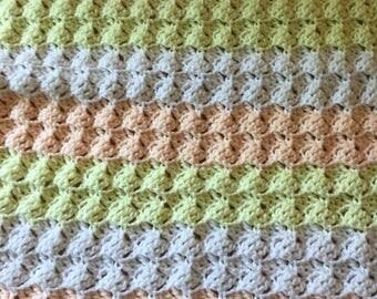 Crochet baby blanket, baby blanket, granny square, crochet afghan, throw, throw blanket, afghan, warm blanket, blanket, crochet, couch throw