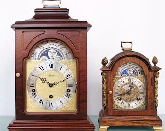 HERMLE Mantel Clock Moonphase! German Westminster 3 MELODIES Whittington ánd WESTMINSTER ánd St.Michaels Chime Vintage Shelf