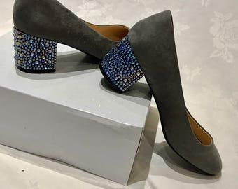 Custom Swarovski Strassing Service Crystal Heels - Stiletto, block Heels - Prom Bridal - We bespoke strass your shoes!