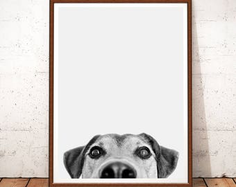 Dog Print, Dog Photo, Dog Printable Art, Dog Decor, Nursery Decor Boy, Dog Wall Art Decor, Nursery Animals, Black and White, Dog Prints