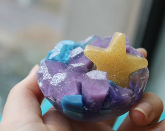 Galaxy crystal soap
