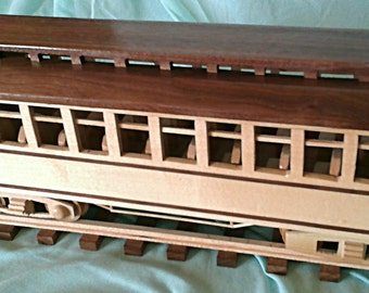 Train Passenger car   hand crafted from Maple & Walnut hardwoods