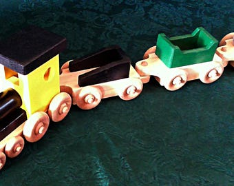 Toy Train  Wood     39 inches long  All non toxic finish