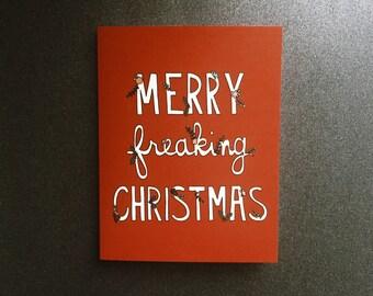 Merry Freaking Christmas notecard