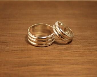 Ooak His & Hers Sterling Silver Thumb Rings
