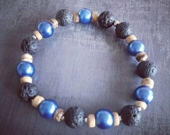 Elastic bracelet natural pearls