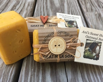 Ani's Sweet Honey Oatmeal Goat Milk Soap