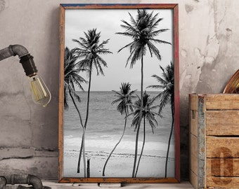 Palm Print, Tropical Print, Beach Decor, Palm Trees, Tropical Leaves, Digital Download - 085