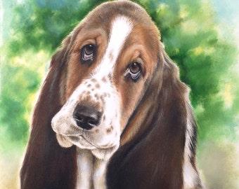 Custom Pet Portrait from your photo, Custom oil painting, pet art, pet portrait