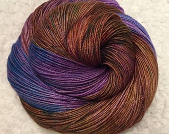 Hand dyed yarn MCS 437 yards 3 ply