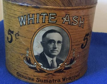 White Ash HE Snyder cigar tin and Phillies Perfecto cigar box lot.