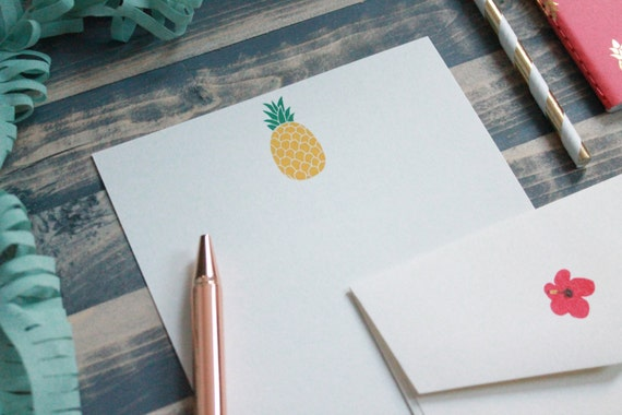 Cute Pineapple Letter Writing Set | Writing Paper | Stationery Gift Set | Gift For Her | Tween ...