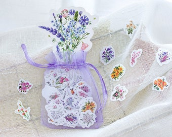 100 Pieces Flower Mini Stickers