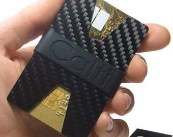 Carbon Fiber Minimalist Wallet Cardholder, For Men And Women, Slim Design, Cards & Cash, Gift For Him, Credit Card Wallet, Thin Wallet