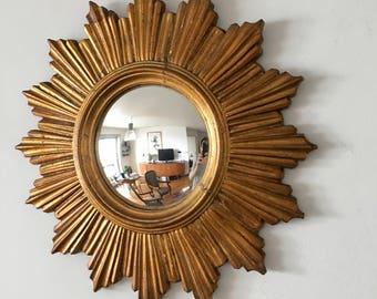 Mirror Sun witch 45cm vintage 1960's eye