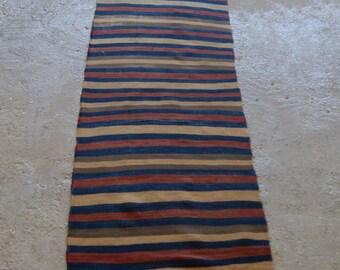 "2'x9'6"" Vintage Runner Rug, Turkish Hallway Runner Rug, Striped Runner Rug"