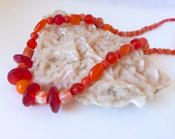 Warm Tones: From the Pickens' Collection, This one's for Rowan w/ Vaseline Glass Beads Necklace