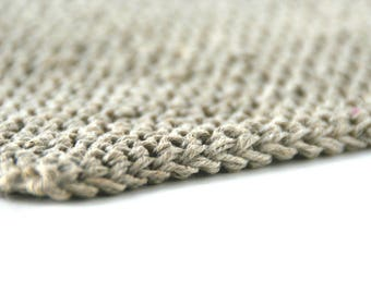 Set of 2 Linen washcloth, Bath linen, Natural skincare, Facial cloth, Eco friendly, Knitted flax washcloth, Zero waste