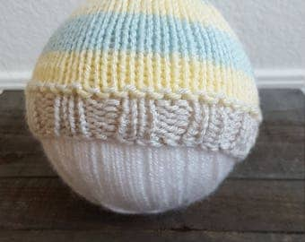 Newborn Knit Beanie Newborn Photo Prop Baby Shower Gift