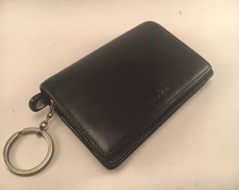 Vintage Coach Black Leather Bi-fold Wallet / Mint