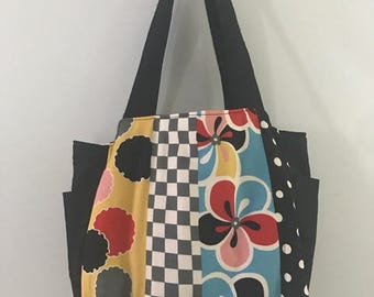 Japanese fabric Bag, Tote Bag, Handbag, shoulder bag, everyday bag, fabric bag, useful bag