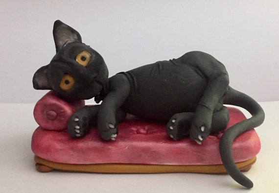 Black Cat - Millefiore sculpture