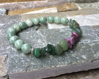 Aventurine jade bracelet courage optimism relaxation