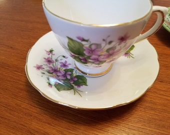 Vintage Royal Sutherland (Staffordshire) tea cup and saucer