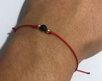 Adult azabache bracelet - Evil eye protection - Red cord bracelet - evil eye bracelet
