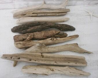 Decorative Driftwood Pieces Drift Wood Art Supplies Beach Decor Ecofriendly Drift Wood Craft Supplies 9 pieses