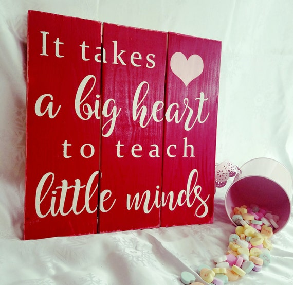 Valentine's Day Pallet Sign | Teacher Sign | Reclaimed Wood Sign | Teacher Pallet Gift | Big Heart | Gift for Teacher | Teacher Gift