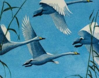 Vintage Melamine Tray, Praesidium, Flying Swans, 1950's.