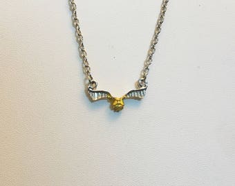 "ON SALE Golden Snitch Necklace - Harry Potter Inspired (18"")"