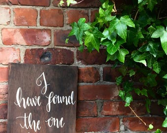 Rustic Shabby Chic Wooden Quote Sign